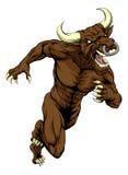 Bull mascot charging Stock Images
