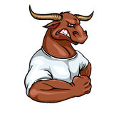Bull mascot, team label design Royalty Free Stock Image
