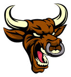 Bull Mean Animal Mascot. An illustration of a bull animal mean sports mascot head Royalty Free Stock Image