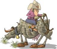 Bull-Mitfahrer lizenzfreie abbildung