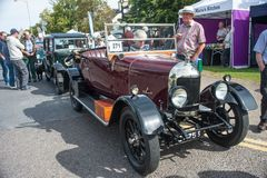 Bull Nose Morris. Motor Mania at Grantown on Spey showing a Bull Nose Morris open tourer of about 1928 vintage, held on 3rd September 2017 stock photography