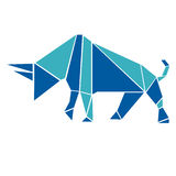 Bull in origami style Royalty Free Stock Photo