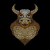 Bull pattern. Black color. Vector format Stock Photo