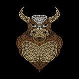 Bull pattern Stock Photo
