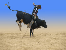 Bull Rider. Isolated with clipping path Royalty Free Stock Photography
