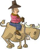Bull rider. This illustration that I created depicts a man riding a bull Royalty Free Stock Photos
