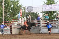 Bull rider on bull Royalty Free Stock Image