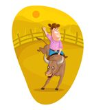 Bull Rider Royalty Free Stock Images