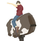 Bull Riding Man Royalty Free Stock Images