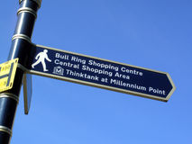 Bull Ring Signpost Stock Photo