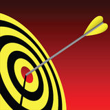 Bull's Eye. Vector illustration of an archery target Stock Photography