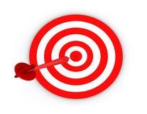 Bull's eye. Target on center Stock Image