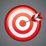 Bull's-eye. An arrow on the bull's-eye Stock Photo