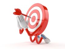 Bull`s eye character prying. On white background Royalty Free Stock Photography