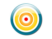 Bull's eye Colored. A  Dart Board colorful and can illustrate your target,metion,focus etc Stock Photos