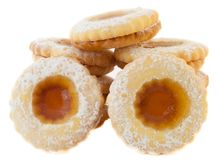 Bull's eye cookie Royalty Free Stock Photography