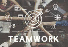 Bull's Eye Goal Mission Icon Teamwork Concept Royalty Free Stock Photos