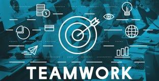 Bull's Eye Goal Mission Icon Teamwork Concept Royalty Free Stock Photo