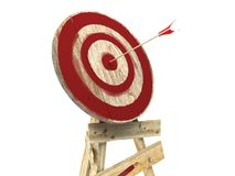 Bull's-Eye target with arrow Stock Photo