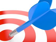 Bull`s eye target with dart Stock Images