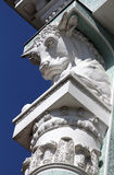 Bull's head on a column of pavilion, All-Russian Exhibition Cent Royalty Free Stock Images