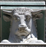 Bull's head on a column of pavilion, All-Russian Exhibition Cent Royalty Free Stock Photos