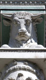 Bull's head on a column of pavilion, All-Russian Exhibition Cent Stock Photo