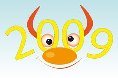 Bull's muzzle. New year's and Christmass collection of illustrations vector illustration