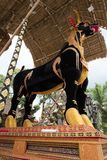 The bull sarcophagus in Ubud, Bali ready for a Royal Family cremation 27th February 2018 royalty free stock photography