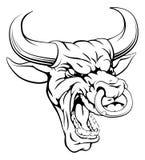 Bull se divierte la cabeza de la mascota Foto de archivo