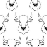 Bull seamless pattern Royalty Free Stock Photos