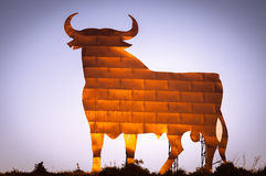 Bull sign in Andalusia, Spain royalty free stock photos