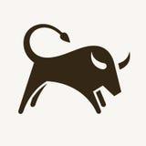 Bull silhouette Royalty Free Stock Photos