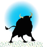 Bull Silhouette Royalty Free Stock Image