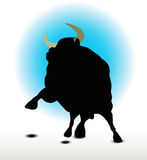 Bull Silhouette Royalty Free Stock Images