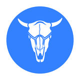 Bull skull icon black. Singe western icon from the wild west black. Royalty Free Stock Image