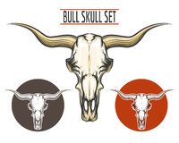Bull Skull set Royalty Free Stock Photography
