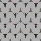 Bull Skull Silhouette Seamless Pattern Royalty Free Stock Photo