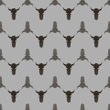 Bull Skull Silhouette Seamless Pattern Royalty Free Stock Photography