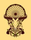 Bull skull tattoo Royalty Free Stock Photography