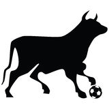 Bull soccer ball Stock Photo