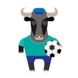 Bull soccer player Stock Images