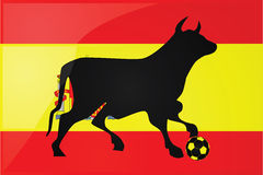Bull Spanish soccer royalty free illustration
