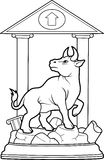Bull stands on a pedestal Royalty Free Stock Images