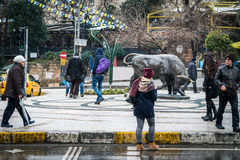 Bull statue at Kadikoy square in Istanbul, Turkey Stock Photography