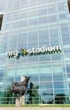 Bull statue outside NRG Stadium, Houston. Stock Photo