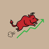 Bull stock market stock illustration