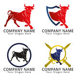 Bull Strong Concept Logo Royalty Free Stock Photo