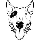 Bull Terrier. Illustration of cartoon Bull Terrier Royalty Free Stock Photo