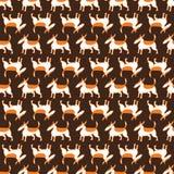 Bull terrier persigue el modelo inconsútil Fondo con el charact de los animales domésticos libre illustration